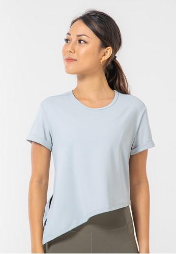 Happyfit grey Happyfit Sportswear Gashina Top / Short Sleeve Light Grey F7005AA21031E4GS_1