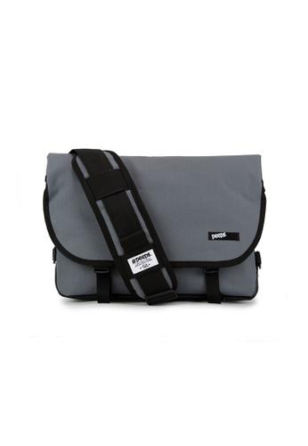Peeps grey and multi Essential Messenger Bag 8A108AC369DC34GS_1