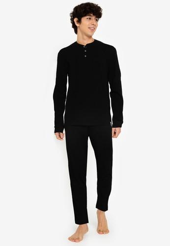 Springfield black Organic Cotton Knit Pyjamas B58C2AA12865A0GS_1