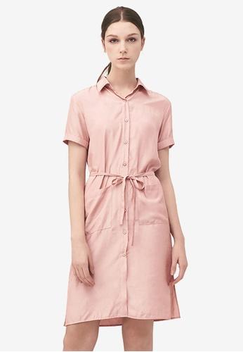 Kodz pink Casual Shirt Midi Dress 0EC72AA01D7A1BGS_1