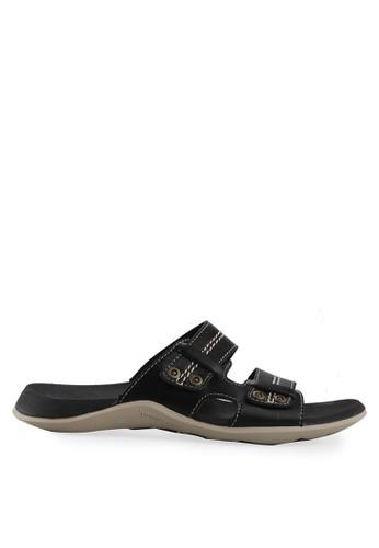 Homyped black Raffi 02 Men Sandals HO842SH04ROPID_1