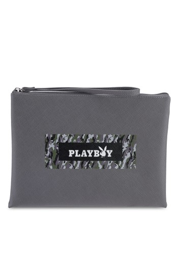 Playboy grey Playboy Clutch Bag 2292BAC94C94BAGS_1