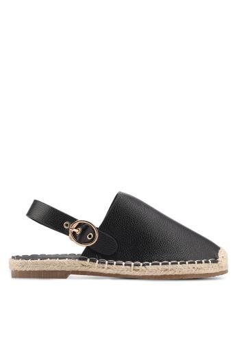Something Borrowed black Faux Leather Espadrilles 5C432SH0CDE690GS_1