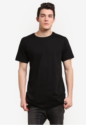 Cotton On black Longline Scoop Hem Tee CO372AA0RI1HMY_1
