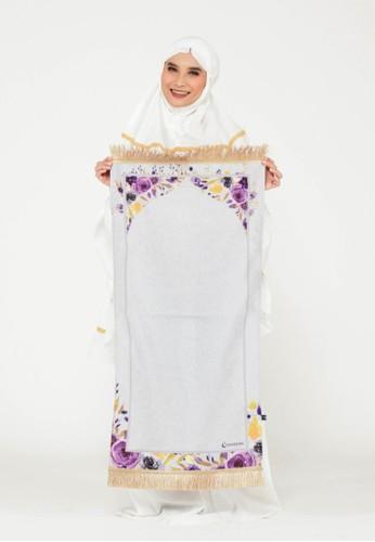 SYAHEERA grey Sajadah Syaheera Floral - Inggrid Grey 8C75FAACA05B74GS_1
