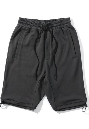 MUSIUM DIV grey Drawstring sweat shorts B8D85AADA5CD08GS_1