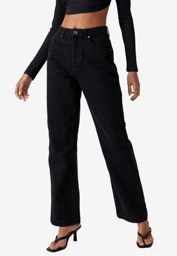 Supre black Full Length Wide Legs Jeans D3BC5AAF98D994GS_1