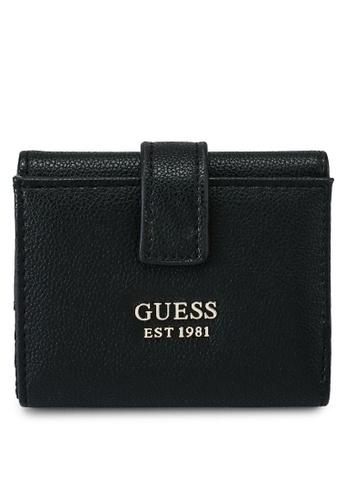 Guess black Little Paris Petite Trifold Wallet BA166ACE7197EEGS_1