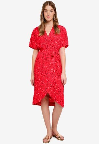 Modstrom red Jemma Print Dress 12BFDAA5807B05GS_1