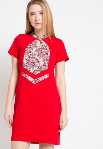 WHITEMODE red Julie Dress WH193AA13YQWID_1
