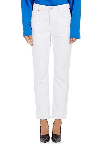 BALENCIAGA white Balenciaga Button On Jeans in White 0D0CDAAAFD9041GS_1