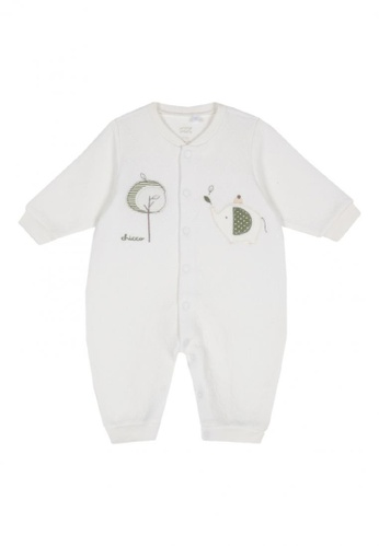 Chicco white Long Robe Rompers 9A948KA6990119GS_1