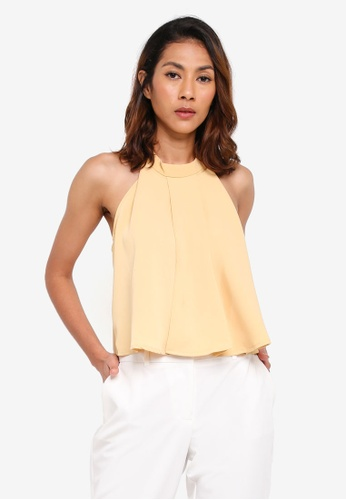 Megane beige Anastaise Cut-In Flare Top 9BE05AAB967CD7GS_1