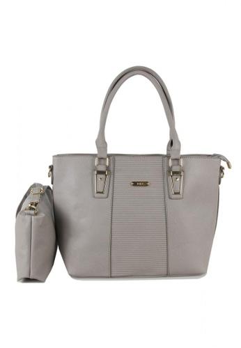 DNJ grey Lany Tote Bag with Sling Bag DN487AC0KNQ5PH_1
