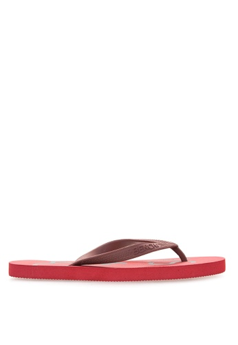 BENCH red Basic Rubber Slippers BE550SH02MBLPH_1