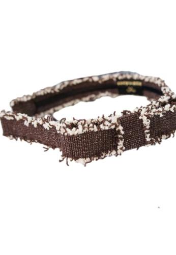 Kings Collection brown Denim Bow Headband (HA20124) B2567ACB5667D4GS_1