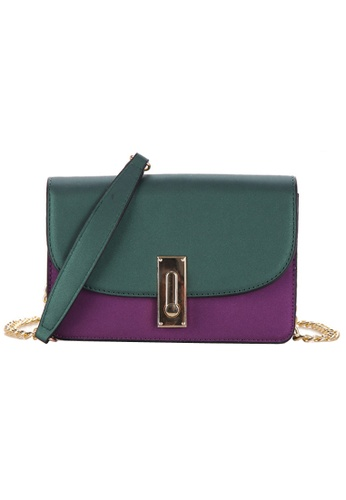 KRIZO green Women Mixture Color Cross Body Bag KR476AC48QAPMY_1