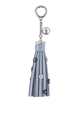 MICHAEL KORS multi Floral Leather Tassel Key Charm (oc) 553DCAC8555D08GS_1