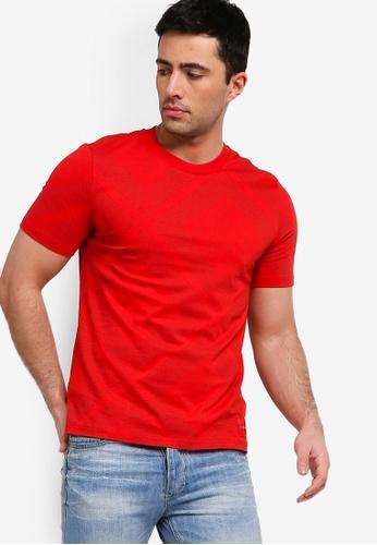 Calvin Klein 紅色 短袖印花T恤 C2C53AA6F783B2GS_1