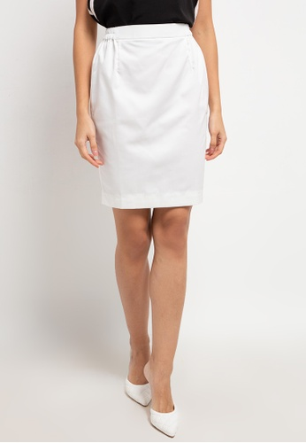 CHANIRA LA PAREZZA white Chanira La Parezza Shyla Mini Pencil Skirt C7329AA51556A1GS_1