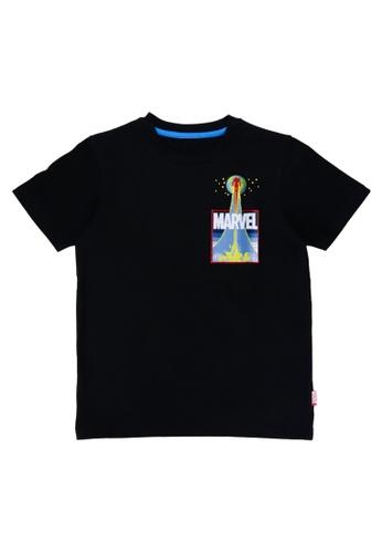 Marvel black Boys Ironman Mock Pocket Graphic T-shirt 70389KA3D06240GS_1