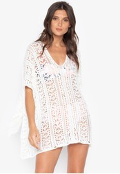 Kats Clothing white Boho Crochet Square Cut Cover Up 02832US1E5C857GS_1