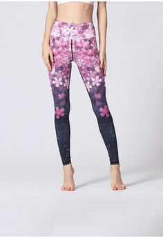 a98f7ae809c48 ZITIQUE multi Fitness And Yoga Sporty Floral Print Ankle Pants  8BE9BAA75790F7GS_1