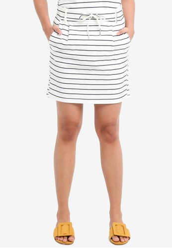 ONLY navy Poptrash Easy Striped Skirt 10D38AAED5981EGS_1