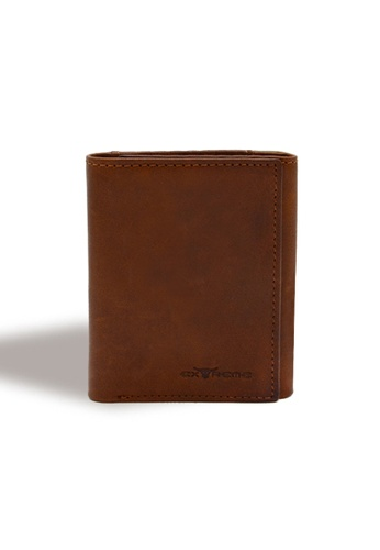EXTREME brown Extreme Genuine Leather  RFID Trifold Wallet A99CBACAFF1747GS_1