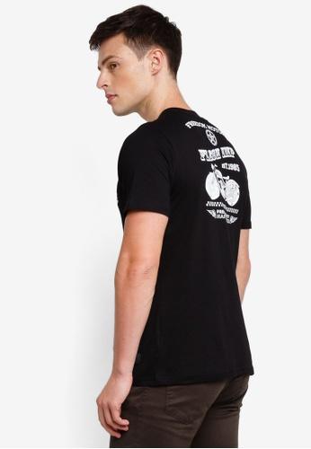 Flesh Imp 黑色 條紋印刷T恤 BC964AA249F1FAGS_1