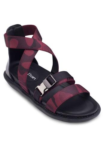 Serena 迷彩包跟涼鞋, esprit 香港女鞋, 鞋
