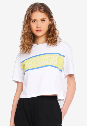 Factorie white Graphic Boxy Tee 98D0BAA7B2294CGS_1