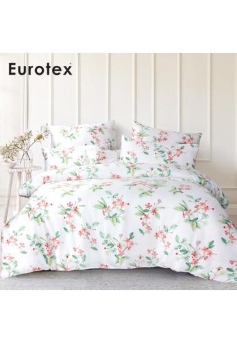 Eurotex Eurotex Mod Living 1000TC, 100% Tencel Printed, Fitted Sheet Set, Florette. 52BEDHL72C968DGS_1