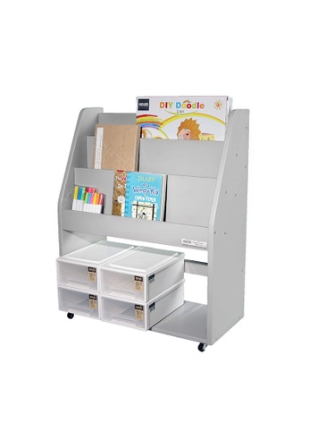 HOUZE grey HOUZE - TOCAR Multipurpose Bookshelf - Grey 01B0EHL2EAAFB2GS_1