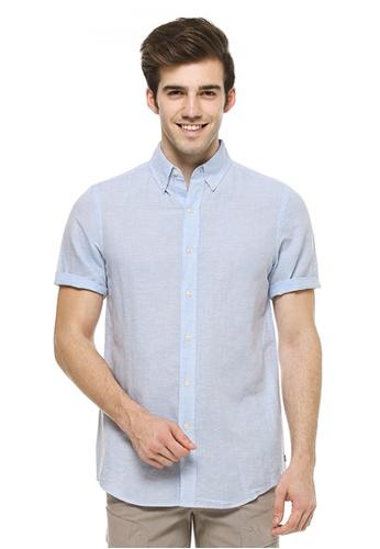 Chaps blue Chaps Linen Cotton Shirt CH325AA76ENJMY_1