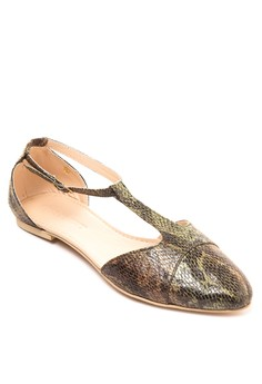 Claret Pointed Snake Flats