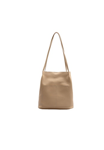 Seoul in Love beige Eva Sling bag with small bag 8D14BACC5956BBGS_1