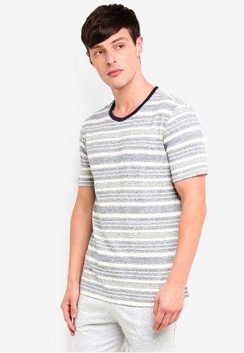 UniqTee 灰色 短袖條紋T恤 A86CCAA8F489DEGS_1