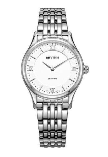 Rhythm P1502S 01 - Jam Tangan Wanita - Stainless - Silver White
