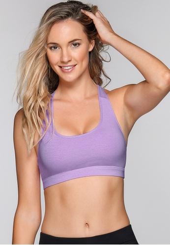 Lorna Jane purple Comfort Mesh Sports Bra LO163US0GXGXSG_1