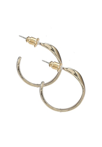 Red's Revenge gold Right Curves Gold Plated Hoop Earrings 93634AC0850765GS_1