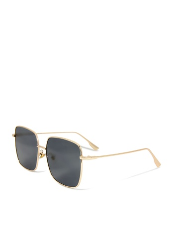 ASLLY multi and gold Icarus'Wing│Black rectangle sunglasses ABD68GLF5E595BGS_1