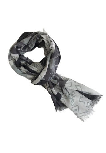 WEAVISM grey King of Mountains Camouflage Collagen Scarf 3CDD4AC80A6EC8GS_1