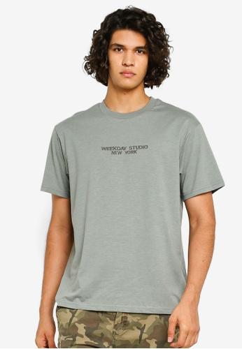 Cotton On 綠色 文字印花T恤 5A716AAE2466C4GS_1