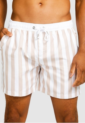 Vacay Swimwear white and brown Ibiza Swim Shorts 79828US87C3FF0GS_1