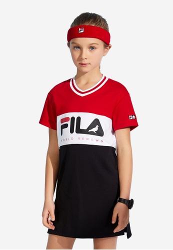 FILA red FILA KIDS FILA x STAPLE Logo Colour Blocks Dress 8-16yrs 545A9KA7B14EB9GS_1