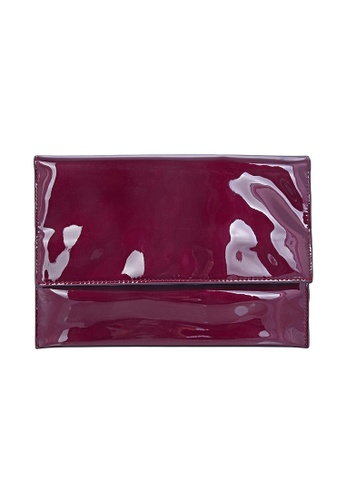My Flash Trash red Dark Red PU clutch bag 8867AAC62D1C11GS_1