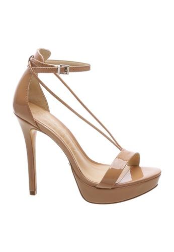 SCHUTZ 米褐色 SCHUTZ 厚底搭帶高跟涼鞋 - LILY (烤果色) D63F1SH0F76187GS_1