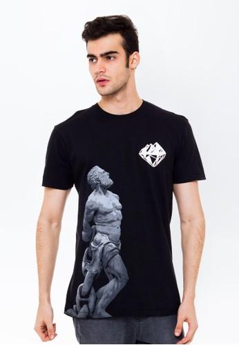 Bloop Tshirt GreekStatue Black BLP-OL094