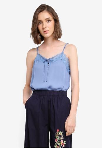 Mango blue Lace Trim Top 14651AA6049320GS_1